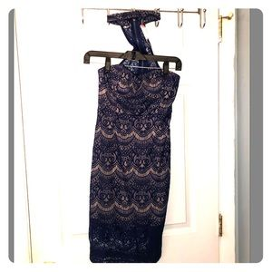 Lulus Navy Blue Lace Dress